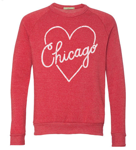I Heart Chicago - adult, unisex sweatshirt