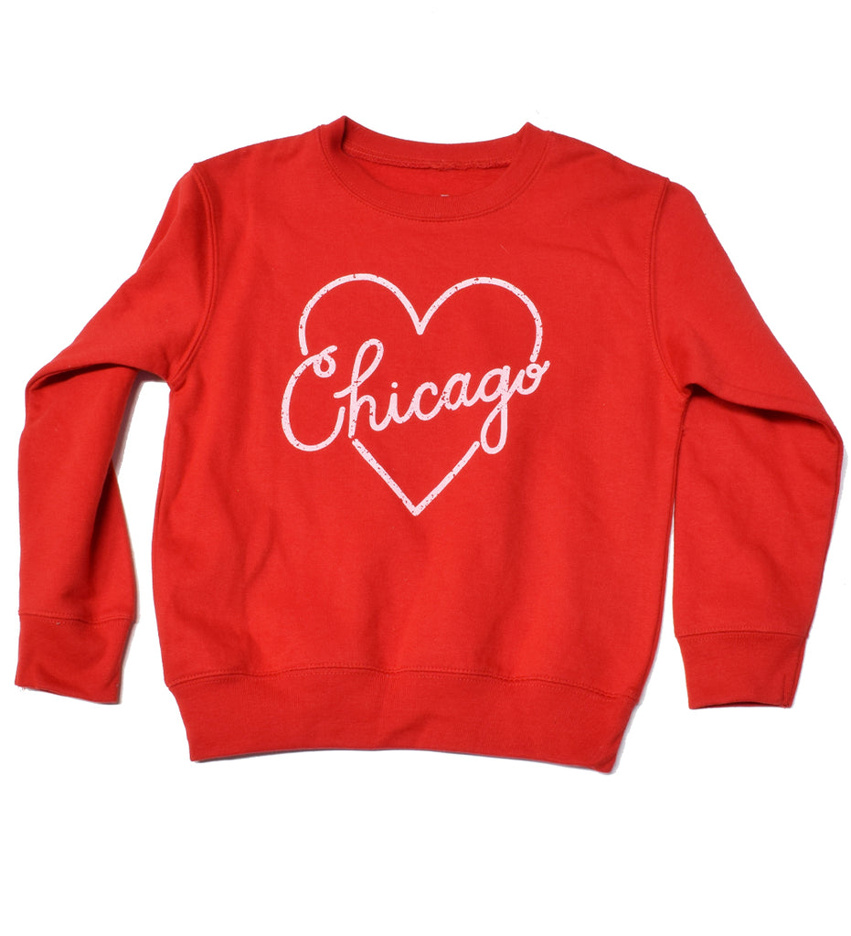 Heart Chicago - kid crew sweatshirt