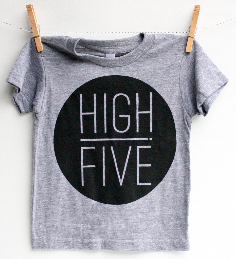 High Five- kid's hand printed t-shirt
