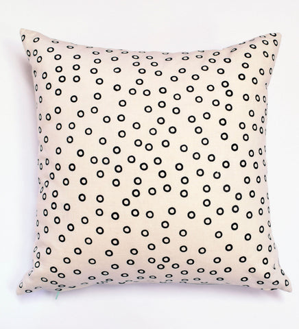 Hole Punch - black - pillow case