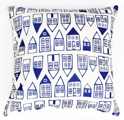 The Neighborhood - cobalt blue - pillow case