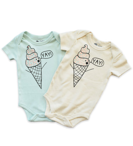 I Scream for Ice Cream - organic baby bodysuit