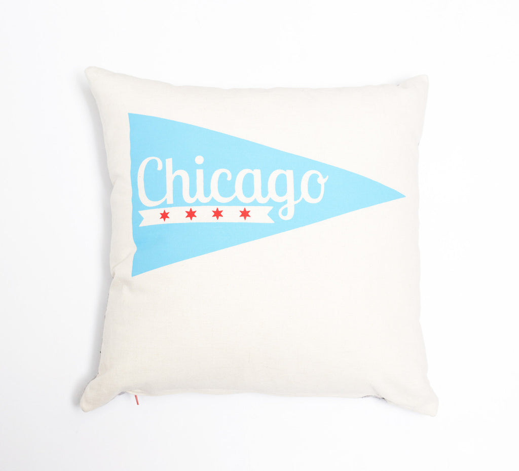 Chicago Pennant - pillow case