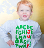 Joy- kids holiday sweatshirt
