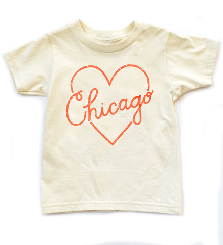 I Heart Chicago - kids hand t-shirt