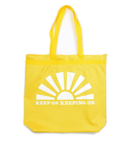 Keep On Keeping On - sample - zippered tote