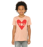 Heart You - (peach, mauve + blue) kids t-shirt