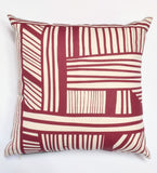 A Maze - cranberry - pillow case