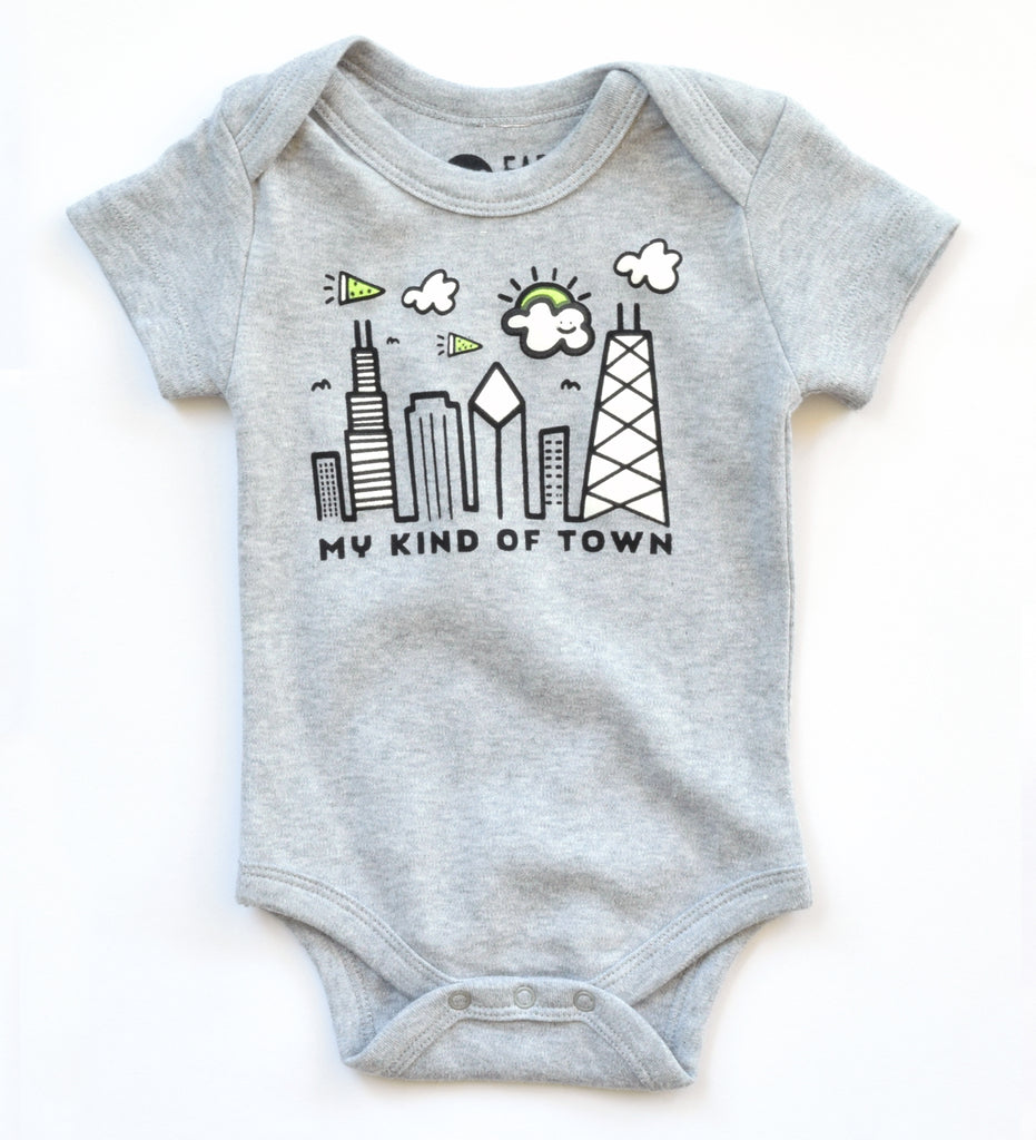 My Kind of Town - Chicago inspired, organic bodysuit
