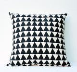 Mountains of Montana - black - pillow case