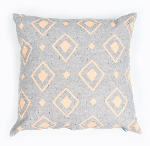 Diamond Dance - peach - pillow case