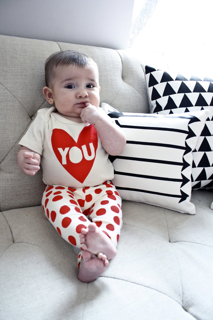 Heart You - Valentine organic baby bodysuit