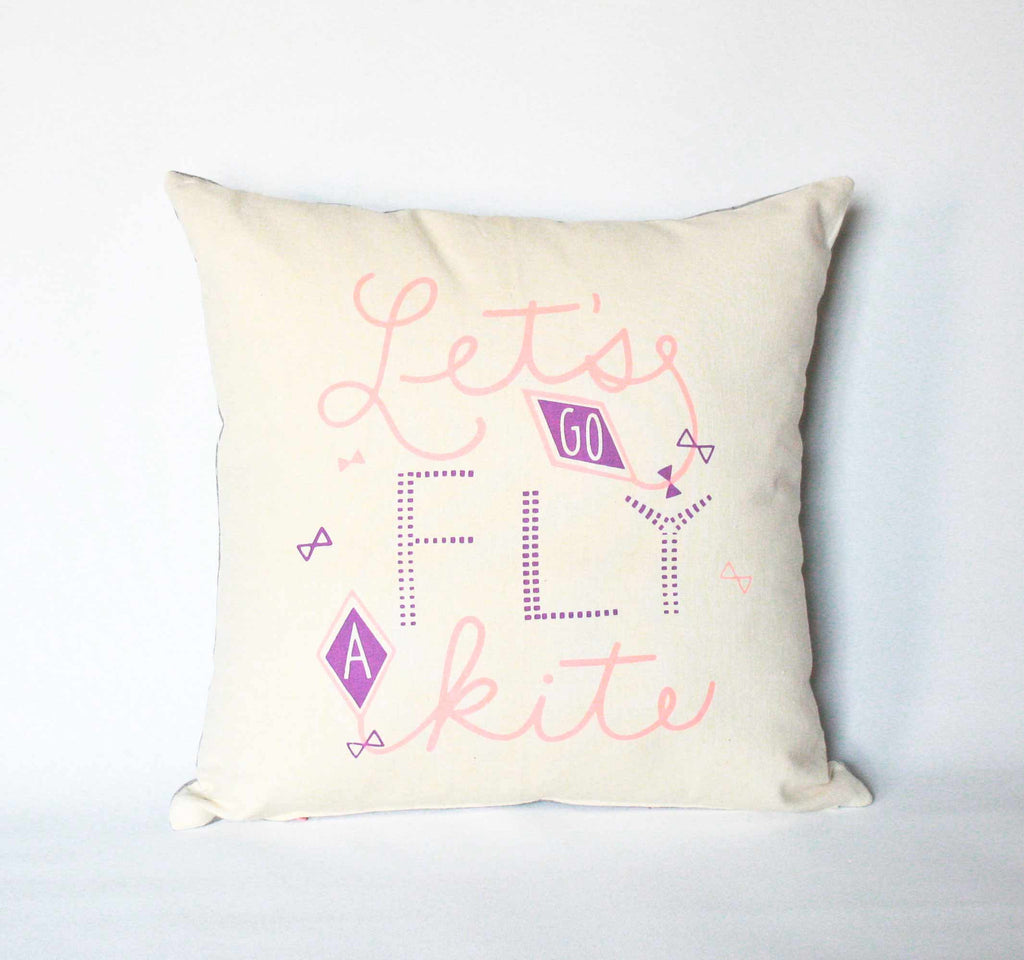 Let's Go Fly a Kite - pillow case - sale