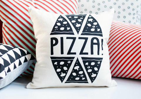 Pizza Party - organic pillow