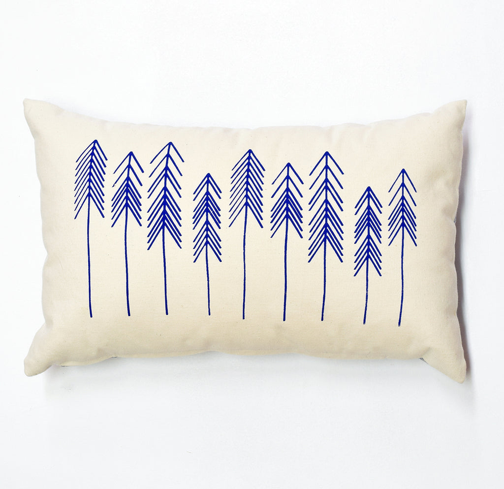 For You I Pine - cobalt blue - pillow case
