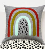 "Double sided Ikat and Rainbow  - 18""x18"" pillow case- misprint"