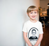 Notorious RBG - kids hand printed t-shirt