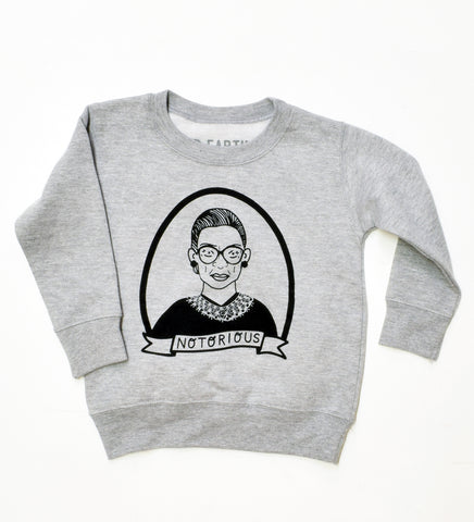 Notorious RBG - kids crew sweatshirt