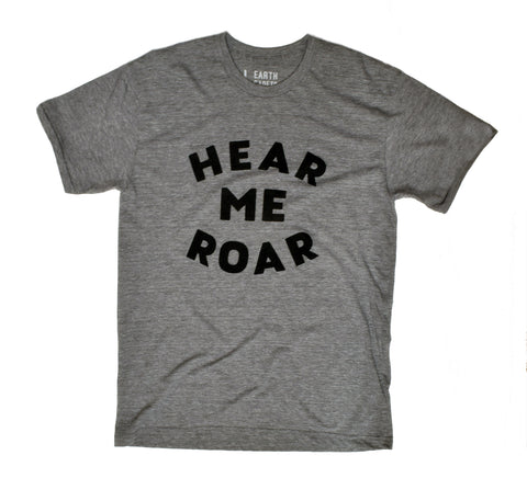 Hear Me Roar - hand printed t-shirt