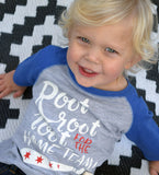 Root Root for the Home Team - kid's baseball tee