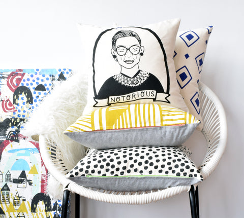 Notorious RBG - pillow case