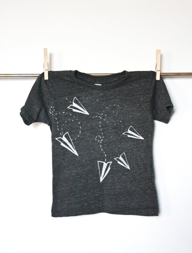 Flight Pattern - kid's hand printed t-shirt