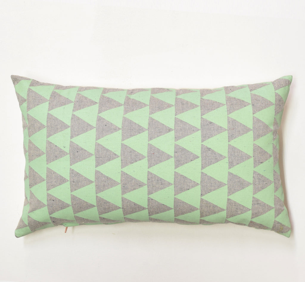 "Mountains of Montana - mint - 12""x20"" pillow case - sale"