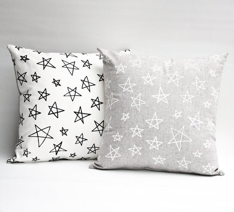 Star Bright - white - pillow case