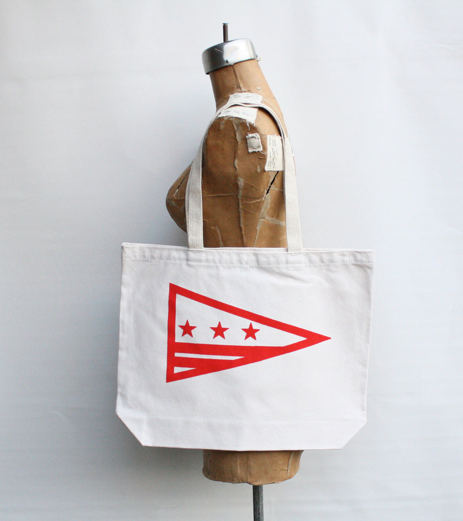 Washintgon D.C. Flag tote bag hand printed recycled grocery, shopping, everyday tote