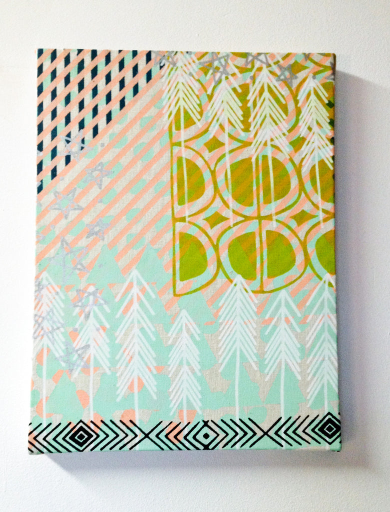 Customized, hand printed, stretched wall art! You pick the colors ...