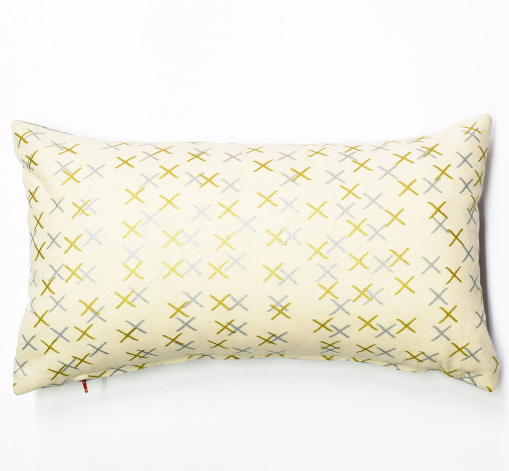 "X Marks - 12""x20"" pillow case - sale"