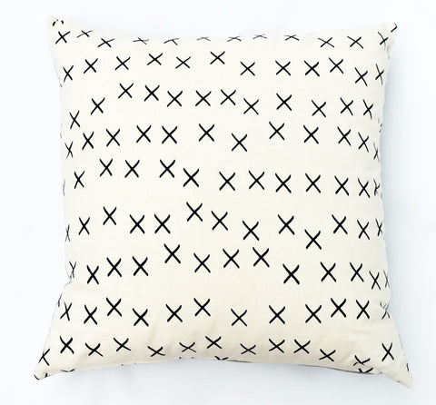 X Marks It - black - pillow case
