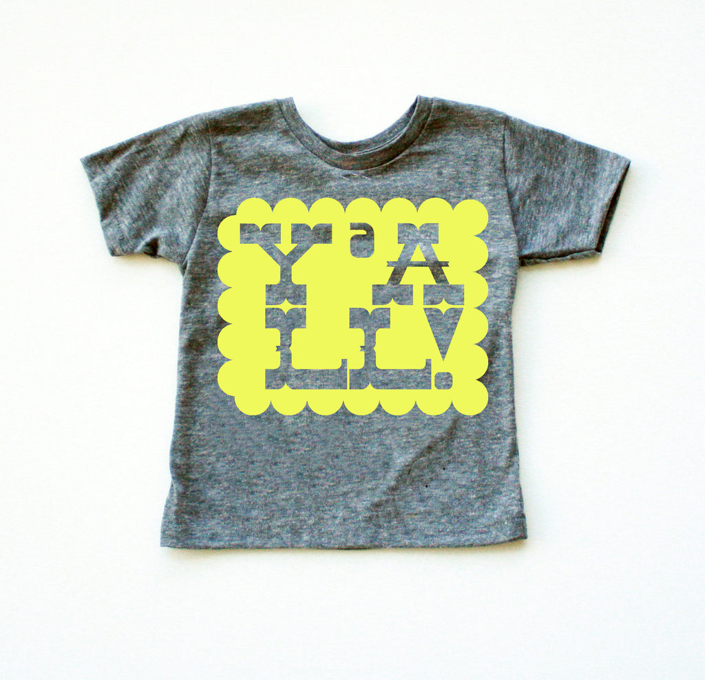 Y'all! - kid's hand printed t-shirt, southern style