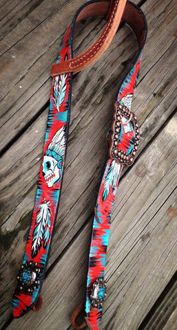 "Belt Headstall ""Freehand design"""