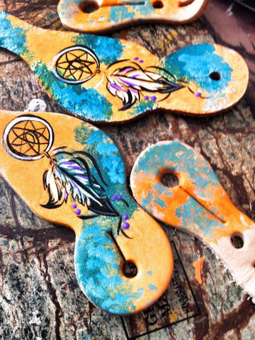 Youth Dream Catcher spur straps