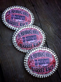 Large Oval  Award Buckles