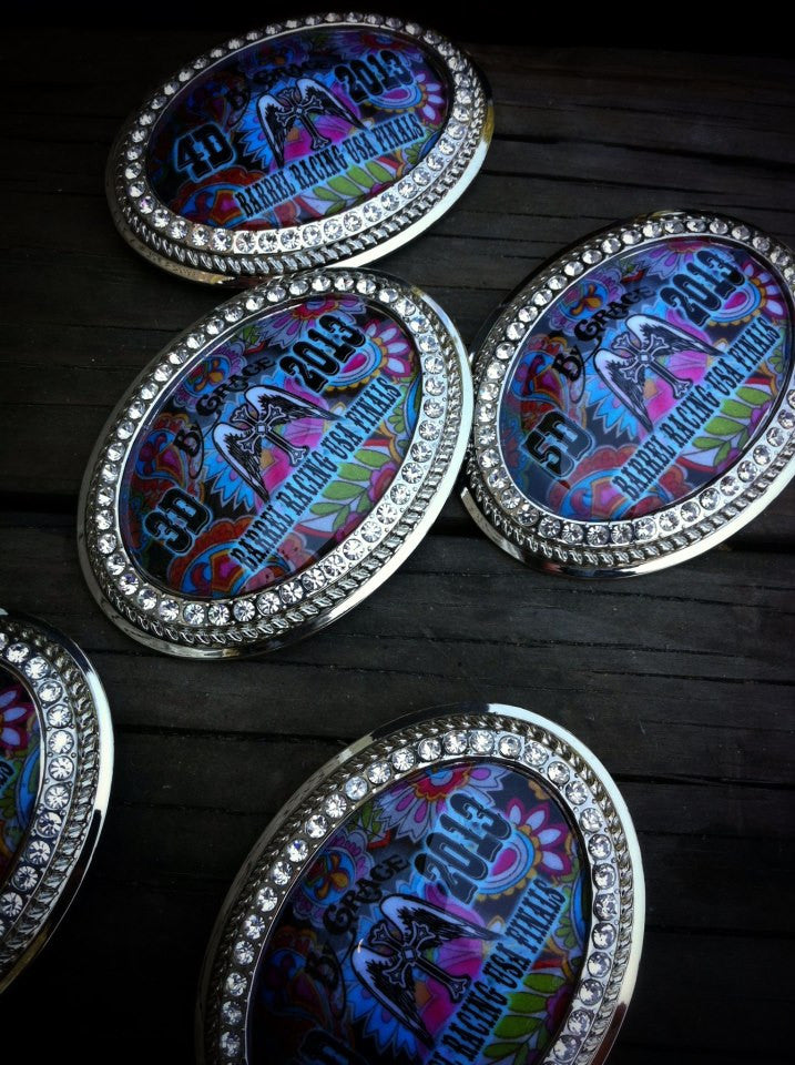 Crystal Oval Award buckles