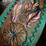 Dream catcher painted and tooled halter