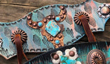 Turquoise Stone Steer Halter