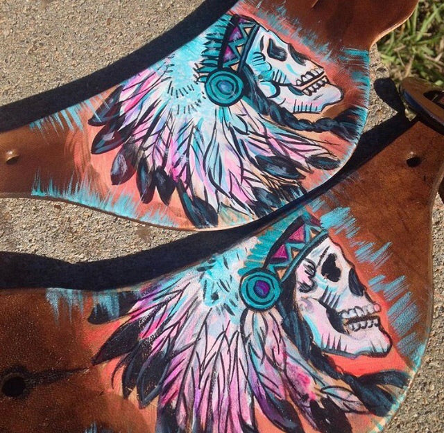 Chief skull sunset straps