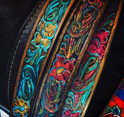 Hand Painted Floral Belts