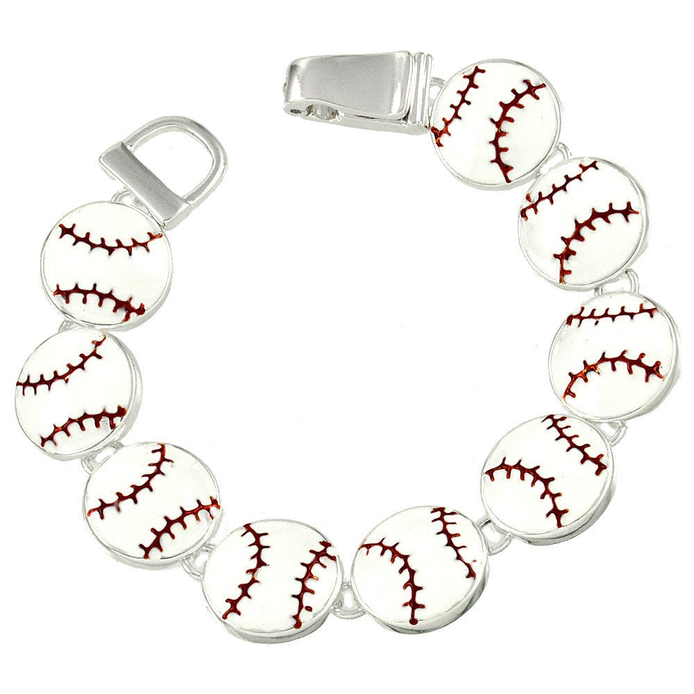 Baseball Bracelet - Magnetic Closure- ShopLuLu.com , New York's Fashion District - NYC - Factory Direct. Basic As it Should Be