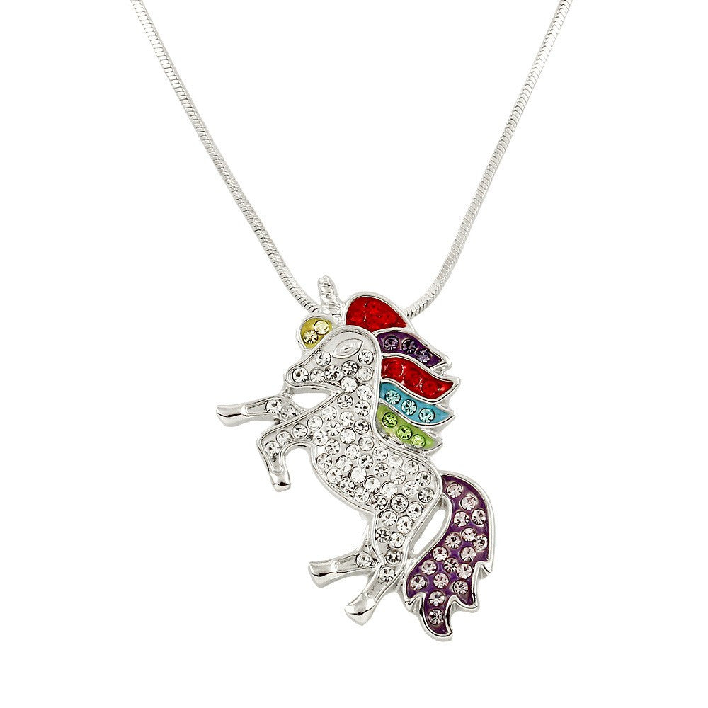 Majestic Rainbow Unicorn Necklace