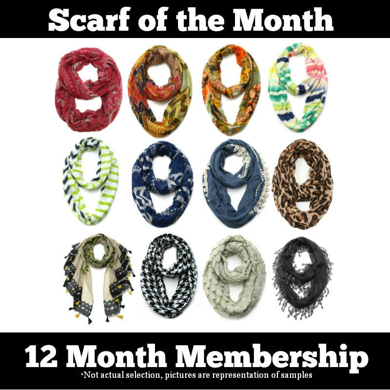 Scarf of the Month - 12 Month Subscription Package