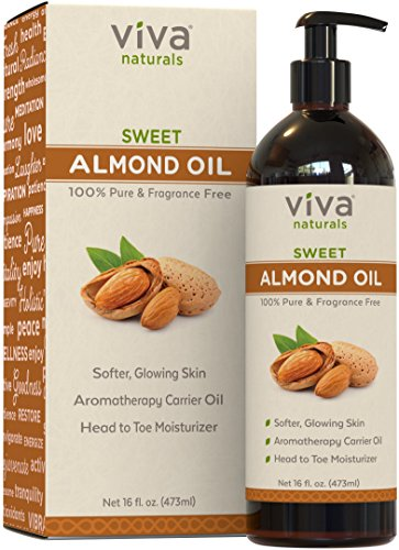Viva Naturals Sweet Almond Oil 16 fl oz, 100% Pure and Hexane Free, Ideal for Skin and Hair- ShopLuLu.com , New York's Fashion District - NYC - Wholesale Fashion Jewelry