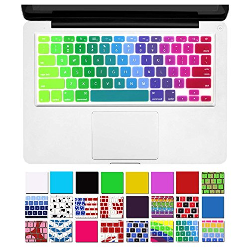 "DHZ Unique Ultra Thin Durable Keyboard Cover Silicone Skin for MacBook Pro 13"" 15"" 17"" (with or w/out Retina Display) iMac and MacBook Air 13"" (Rainbow 5)"