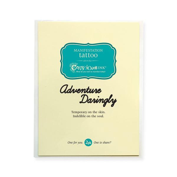 Adventure Darlingly Temporary Tattoo- ShopLuLu.com , New York's Fashion District - NYC - Factory Direct. Basic As it Should Be