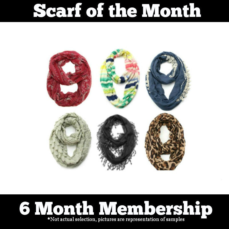 Scarf of the Month - 6 Month Gift Subscription Package- ShopLuLu.com , New York's Fashion District - NYC - Wholesale Fashion Jewelry