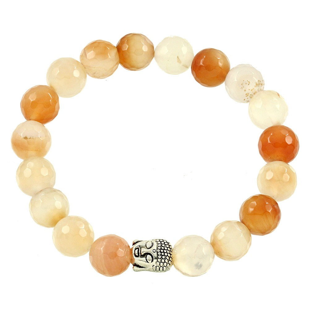 Strengthen the Bond of Love Between Parent and Child- Apricot Agate- ShopLuLu.com , New York's Fashion District - NYC - Wholesale Fashion Jewelry