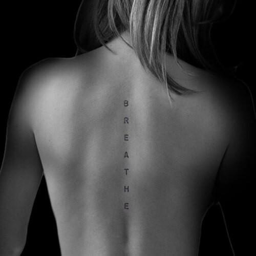 Breathe Oversized Temporary Tattoo